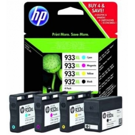 hp Multipack Cartucce Inkjet 932 Xl Black + 933 Xl Color C/M/Y C2P42AE