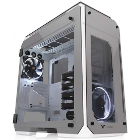 Thermaltake Case Gaming Full Tower View 71 Snow Fan LED White Side Panel Tempered Glass 5mm White CA-1I7-00F6WN-00