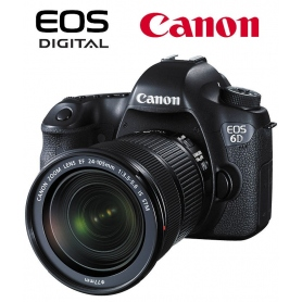 Canon EOS 6D WG + Canon EF 24-105 f-3.5-5.6 IS STM - omaggio SD 16GB Classe 10, manuale in ITALIANO - Assistenza Italia
