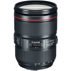 Canon EF 24-105mm f-4.0L IS USM II, Scatola Bianca - Assistenza Italia