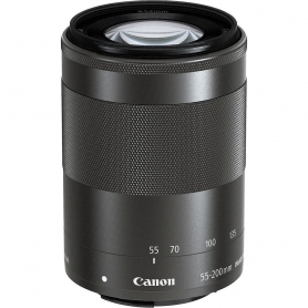 Canon EF-M 55-200mm f/4.5-6.3 IS STM, Black / Nero - Scatola Bianca