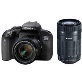 Canon EOS 800D + EF-S 18-55 STM + EF-S 55-250 STM - Assistenza Italia