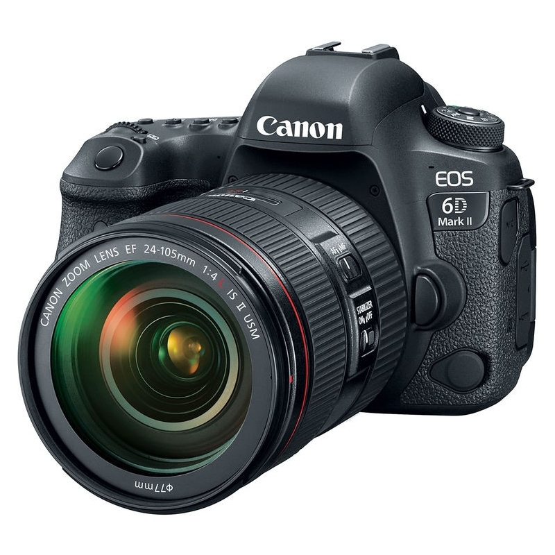 Canon EOS 6D Mark II - manuale in ITALIANO + EF 24-105 f-4 II IS USM - Omaggio SD 16GB classe 10, Assistenza Italia