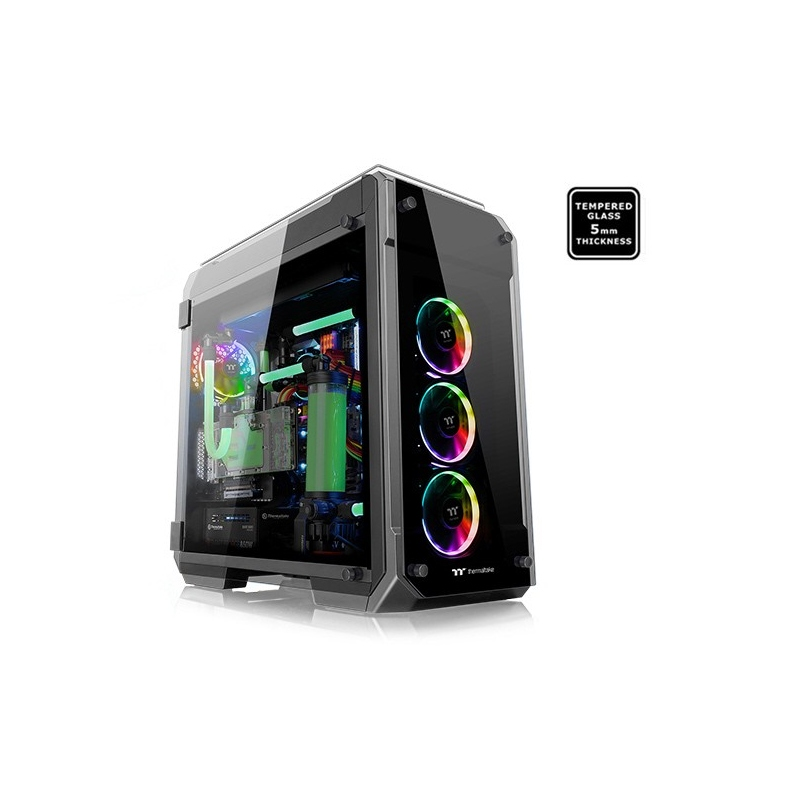 Thermaltake Case Gaming Full Tower View 71 RGB Side Panel Tempered Glass 5Mm Black - Nero CA-1i7-00F1WN-01