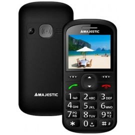 Majestic Seniorphone Display Colori 2.2 Sos Tasti Grandi Radio Torcia Allarme Black TLF-SILENO-31