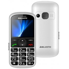Majestic Seniorphone Display Colori 2.2 Sos Tasti Grandi Radio Torcia Allarme White TLF-SILENO-31-W