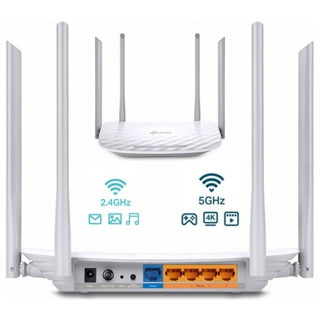 Tp-Link Router Wireless Dual Band 300Mbps White ARCHER-C50