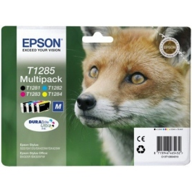 Epson Kit Cartucce Inkjet Volpe T1285 Black 5.9ml + Multicolor C-M-Y 3.5Ml C13T12854010