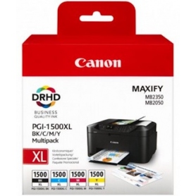 Canon Multipack Cartucce Inkjet Pgi-1500 Xl Black 34.7ml Color C-M-Y 12Ml 9182B004