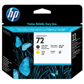 hp Cartuccia Testina Inkjet 72 Multicolor Yellow + Black C9384A