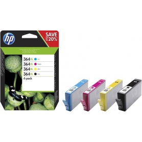 hp Multipack Cartucce Inkjet 364 Black + Color C-M-Y N9J74AE