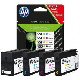 hp Multipack Cartucce Inkjet 950 Xl Black + 951 Xl Color C-M-Y C2P43AE
