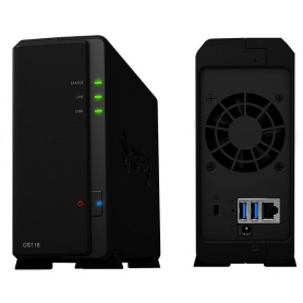 Synology Nas Gigabit Rj45 USB 1Bay Black DS118