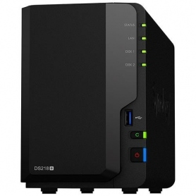 Synology Nas 218+ Gigabit 1Xrj45 2Bay Raid 0-1 Black DS218P