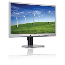 Philips 24, LED TN, 16:9, 1920X1080, 250 Cd-M, 5Ms, VGA, DVI-D, Dp, USB, Silver, Multim, Gar 3 Anni Swap On Site 241B4LPYCS-00