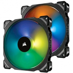 Corsair ML140 Premium Levitazione Mag da 140mm, Conf Doppia + Lighting Node & Hub, 2pz, RGB CO-9050078-WW