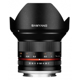 Samyang 12mm f-2.0 NCS CS (Micro 4-3) Nero