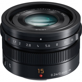 Panasonic LEICA DG SummILUX 15mm f-1.7 ASPH (Nero)